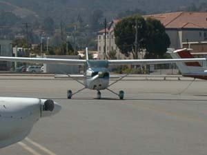 Ramp view at San Carlos Airport