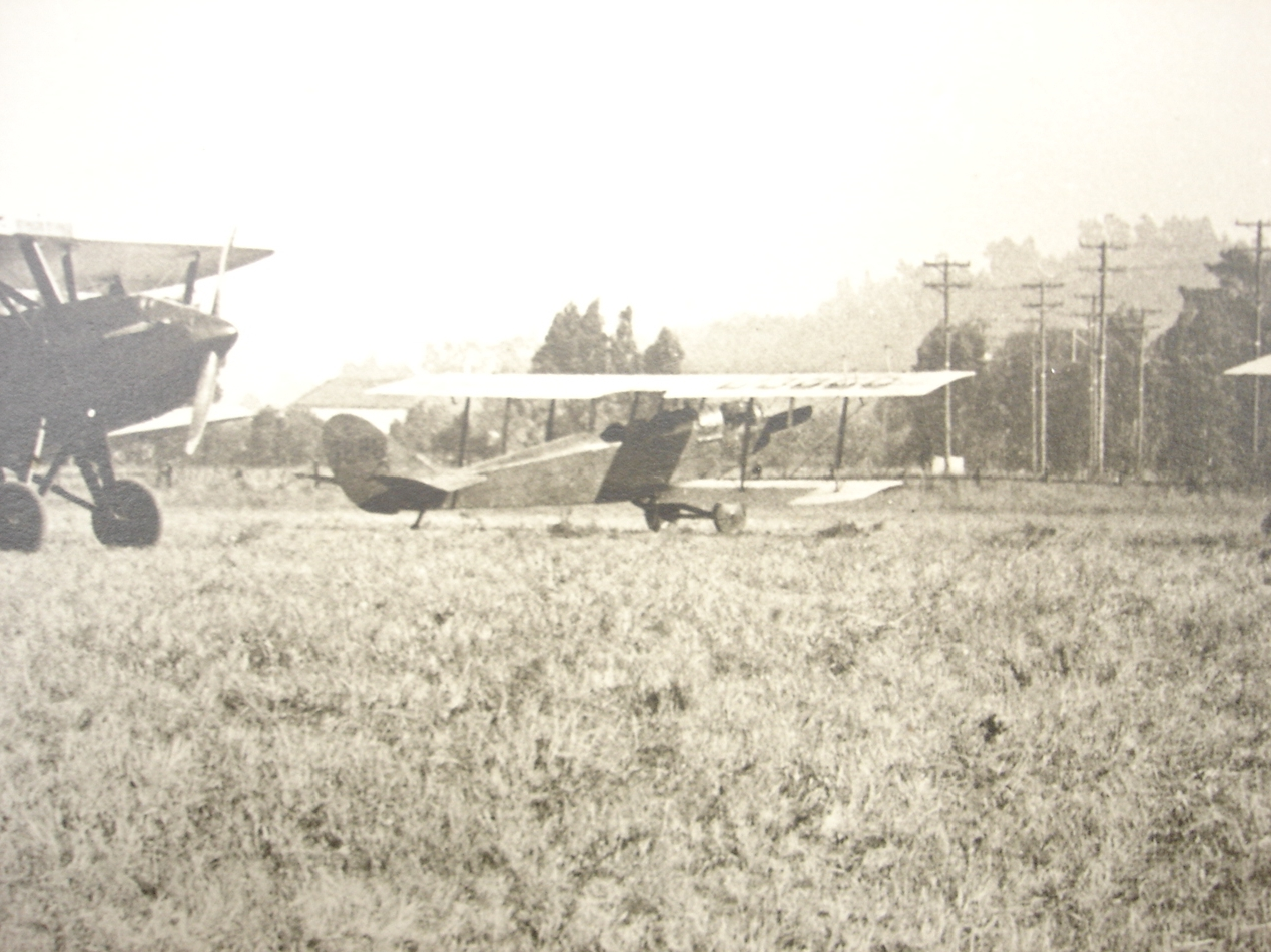 Flight line at San Carlos Airport 1920s