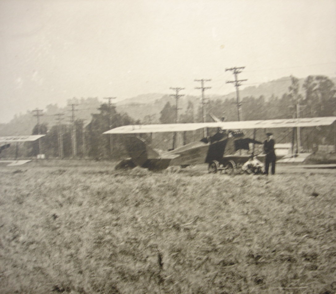Ground operations at San Carlos Airport 1920s