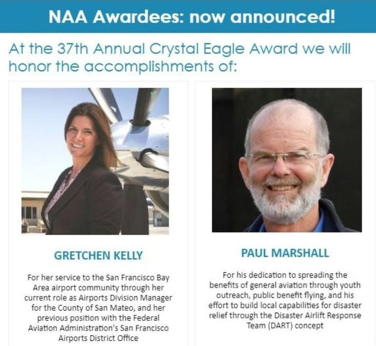 SQL Airport Manager and DART President Honored by National Aeronautic Association